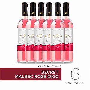 Kit c/6 Garrafas de Vinhos Sécullum Secret Malbec Rosé 2020