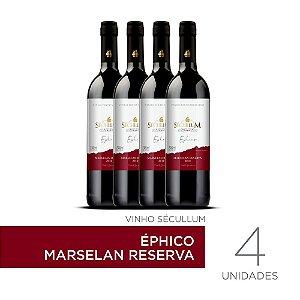 Kit c/4 Garrafas de Vinhos Sécullum Marselan Reserva Éphico