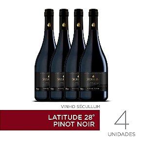 Kit c/4 Garrafas de Vinhos Sécullum Pinot Noir - Latitude 28°