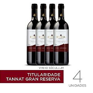 Kit c/4 Garrafas de Vinhos Sécullum Titularidade Tannat Gran Reserva