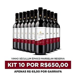Kit c/10 Garrafas de Vinhos Sécullum Marselan Reserva Éphico