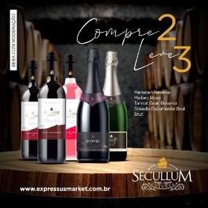 Compre 2 e Leve 3 Vinhos Sécullum Marselan Reserva Éphico
