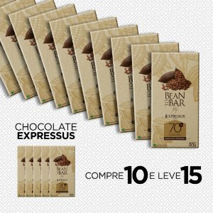 Compre 10 e Leve 15 Barras de Chocolate Bean To Bar 70% de Cacau