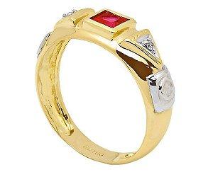 Anel de Formatura em Ouro 18K750 Ref. ANF503
