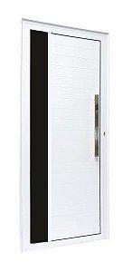Porta Lambril com Vidro e Puxador - Branco