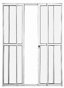 Porta Balcão 4 folhas - Com fechadura - Branco