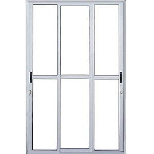Porta Balcão 3 fls de Vidro - Linha 25