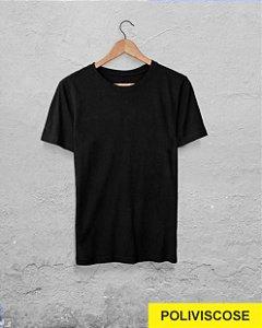 40 Camisetas Preta - Poliviscose