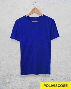 30 Camisetas Azul Royal - Poliviscose