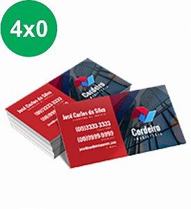 Cartão de Visita Couchê 300g Sem Verniz 9x5 - 4x0 - 100 UNID