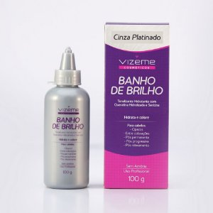 Banho de Brilho Cinza Platinado 100g