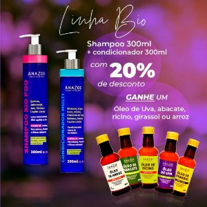 Shampoo Bio Poo + Condicionador Multi 300ml e Ganhe um de nossos Queridinhos