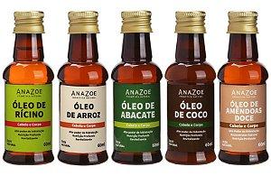 Kit óleos Cabelo e Corpo Cabelos Crepos Anazoe