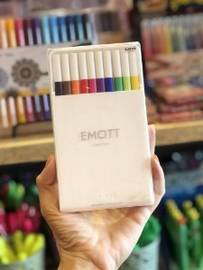 Caneta Emott nº1 extra fina 0,4mm Uniball  c/10 cores