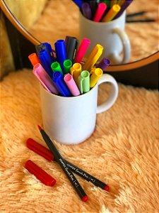 Caneta hidrográfica Brush Pen aquarelável New Pen vermelho escarlate