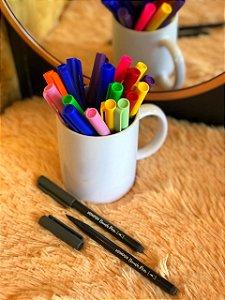 Caneta hidrográfica Brush Pen aquarelável New Pen cinza grafite