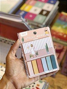 Marcador de página adesivo cores sortidas