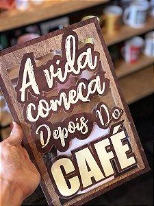Placa decorativa MDF para café 20x30cm