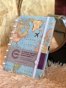 Caderno inteligente Mapa Mundi A5