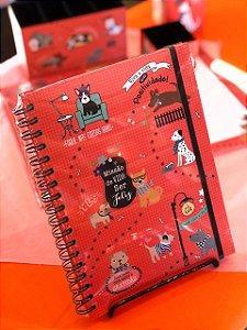 Caderno colegial Cachorro Amigo Fina Ideia 175x235mm