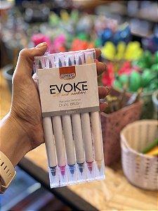Marcador Artistico Evoke dual Brush pen blister 6 cores
