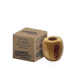 Suporte para Escova de Dentes de Bambu Organico Natural