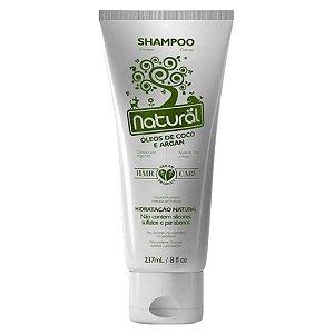 Shampoo Natural Coco e Argan 237ml Orgânico Natural