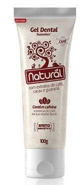 Gel Dental Natural Extrato de Café, Cacau e Guaraná 100g