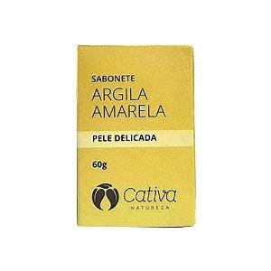 Sabonete Pele Delicada 60g (Argila Amarela) Cativa Natureza