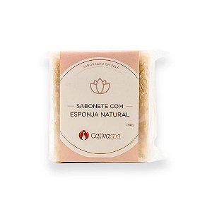 Sabonete Com Esponja Natural Cativa Spa 100g Cativa Naturez