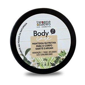 Manteiga Nutritiva Natural Vegano(Corpo) Karité e Argan 200g