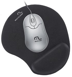 Mouse Pad Gel Preto Multilaser - AC024