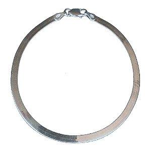 Pulseira de Prata Laminada 3 mm