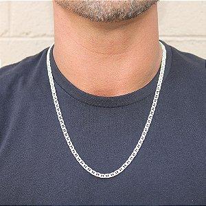 Corrente de Prata Masculina 60 cm Piastrine 5 mm Vizaro