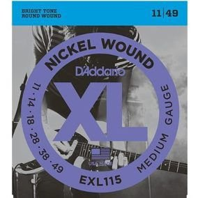 Encordoamento para guitarra D'Addario EXL 115 B 11/49 011