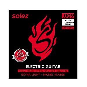 Encordoamento para guitarra Solez SLG 09