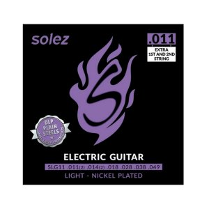 Encordoamento para guitarra Solez SLG .011