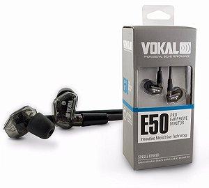 Fone de ouvido Vokal para retorno E50 Pro In Ear