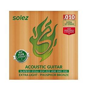 Encordamento para violão aço Solez 0.10 SLAPB10
