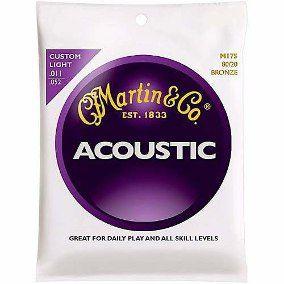 Encordoamento para violão aço  Martin Acoustic M175  0.11