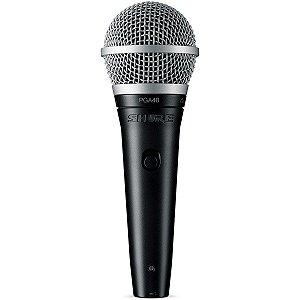 Microfone Shure PGA 48 Dinâmico cordioide LC
