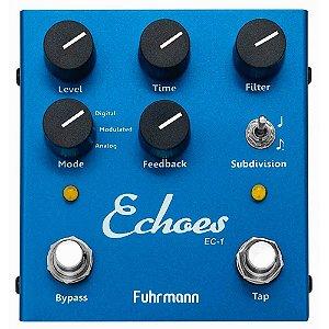 Pedal Fuhrmann para Guitarra Echoes Tap Delay EC-01