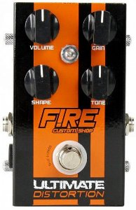 Pedal Ultimate Distortion Fire Custom