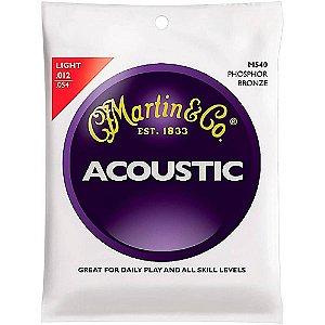 Encordoamento Para Violão Aço Martin Acoustic Phosphor Bronze Light 0.12