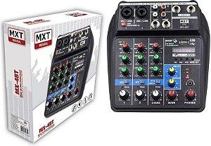 Mesa de Som MXT De 4 Canais MX-4BT