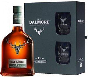 Whisky Dalmore kit com 2 Copos 15 Anos - 700 ml