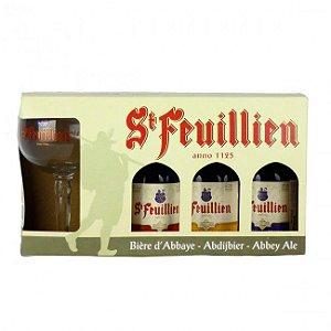 Kit Cervejas Belga Feuillien 330 ml com 1 Taça personalizadas
