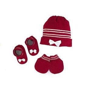 Conjunto Bebê Vermelho Decorado
