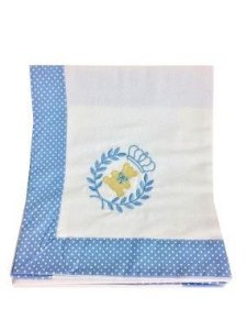 Cueiro Bebê Azul Claro