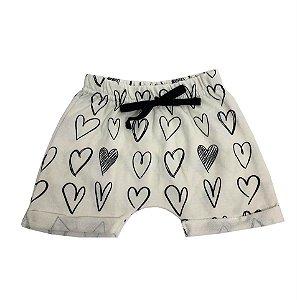 Shorts Infantil Coração